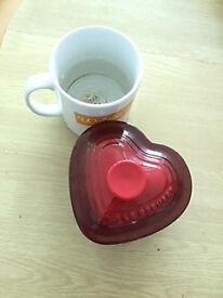 Le Creuset Heart shape mini stoneware
