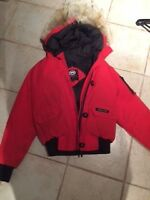 RED CANADA GOOSE BOMBER