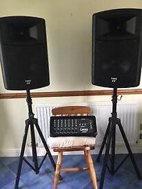 Laney CD 300, 300 watt 7 channel powered mixer amplifier. Plus 2 Laney CX 12 inch speakers