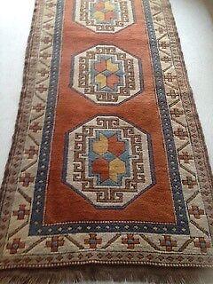 Persian Rug Runner Antique Hamdan Pure Wool Hand Woven Vgc