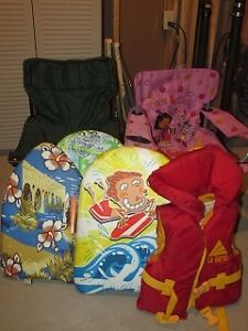Kids Camping Chairs, Life jacket and Flutter Boards