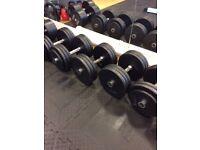 Cast Iron Dumbbells, 25kg, 30kg & 35kg