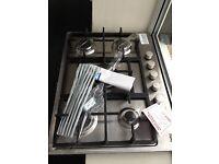 STAINLESS STEEL GAS 5 BURNER HOB NEW 12 MONTHS GTEE £140