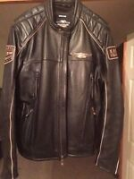 Immaculate black leather Harley Jacket