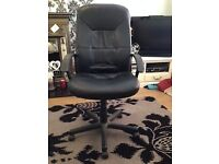 Swivel chair, office desk and drawers - £50