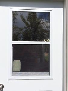 Door window kit, venting