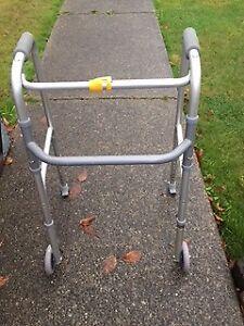 Adjustable manual walker