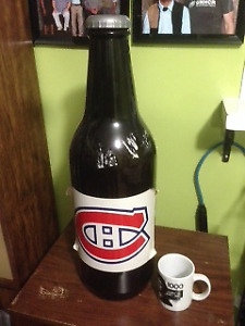Hockey vintage Montreal Canadians Bank Beer Bottle