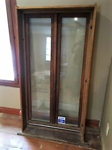 "Pine thermal window  32""w x 60"" high 2""1/2 thick great condition"