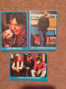 Lot of 13 1971 Partridge Family Trading Cards Blue Border