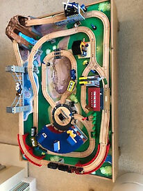 Universe of Imagination wooden toy train set in very good condition complete with all pieces