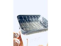 non-stick roasting tin with rack