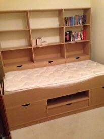 SINGLE CABIN BED WITH ADDITIONAL STORAGE UNIT