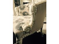 Chair, solid wood, ornate, same style listed OKA Sale website recently