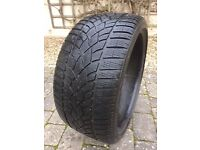 Dunlop Winter Sport tyre for 19 inch wheel. Part worn, no repairs or damage.