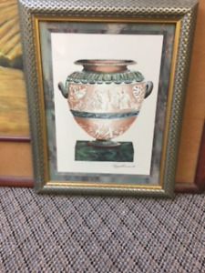 Framed Artwork featuring Urn