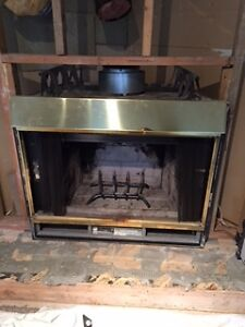 Superior Brass fwood fireplace insert