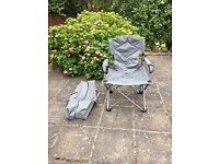 Pack Away Canvas Garden Armchair, with cup and phone pocket and a Carry Bag.