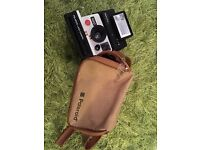 Vintage Polaroid 1000 Land Camera and Polatronic 1 Flash with Carry Case