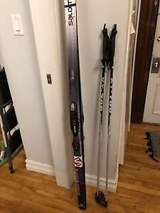 Barely Used Waxless X-Country Skiis, 180, w/ boots & poles