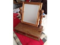 Wooden dressing table drawer with mirror £10