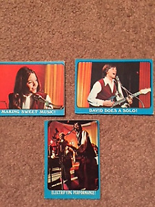 Lot of 45 1971 Partridge Family Trading Cards Blue Border