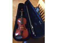 "Half size (13"") Viola in hard carry case"