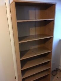 Oak effect tall bookcase (Homebase)
