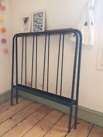 Habitat Grey Metal Bed Frame, lovely design. Some Scratches.
