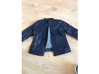 Zara Boys Faux Leather Biker Jacket - Age 7-8