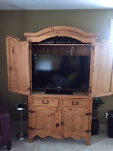 television cabinet/ coofee table and end table