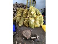 Premium Hardwood Seasoned Logs for sale! (ash and oak, cherry wood sacks for BBQ's also available)