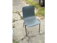 Retro Plastic Stacking Chairs original Remploy chairs in aid of charity