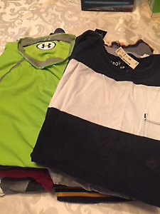 23 men's small shirts, brand new, never worn, tags still on!