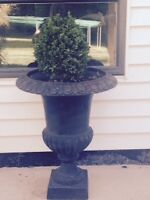 2 wrought iron planters for sale