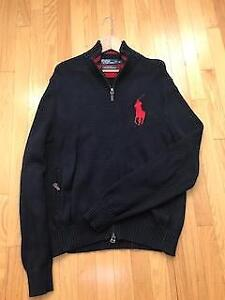Men's Authentic Ralph Lauren Big Polo Navy Blue Sweater Jacket