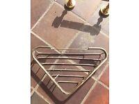 Brass bathroom fixtures (Shower tray, robe hook, towel ring, toilet roll holder)