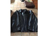 Gents Black Leather Jacket