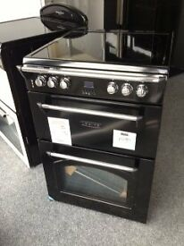 Leisure Gourmet balck electric 60cm cooker with ceramic top new ex display 12 months gtee RRp £529