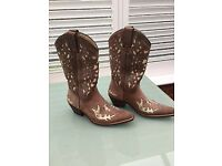 Sancho Boots - Cowgirl Boots RICHMOND BROWN Size 39 Euro.