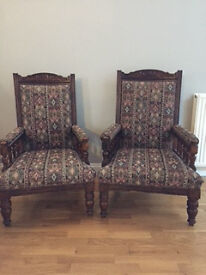 Chairs - King and Queen antique ornate
