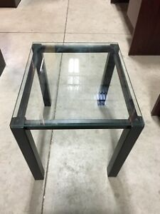 Glass Coffee Table with Black Legs - $49.00