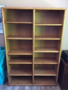 SOLID OAK BOOKCASE -- Take a Look