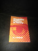 Disability Politics and Theory