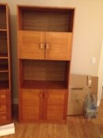 Teak wall units and buffet and hutch