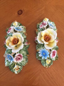 Ceramic floral centerpiece and wall hangings West Island Greater Montréal image 2