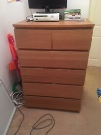 MALM 6 DRAWER CHEST - OAK - £30 - MUST GO TODAY