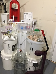Everything to make wine or beer