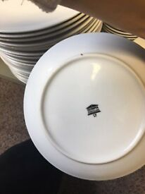 18 Small Side Plates 200mm Plain White Olympia