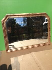 Painted wooden framed mirror